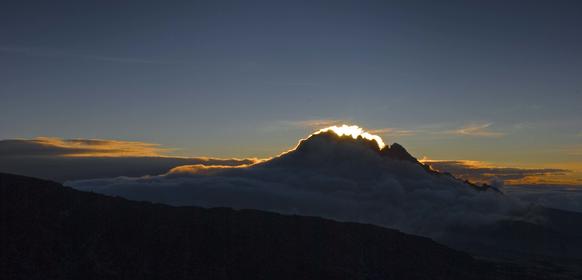 Mawenzi i soluppgång
