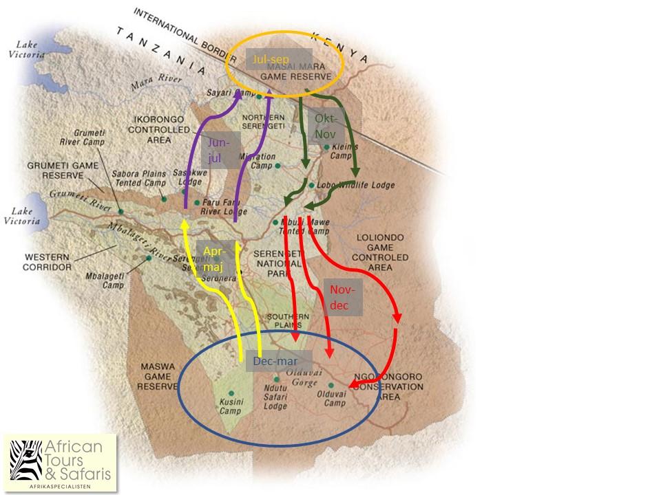 Karta över Migrationen